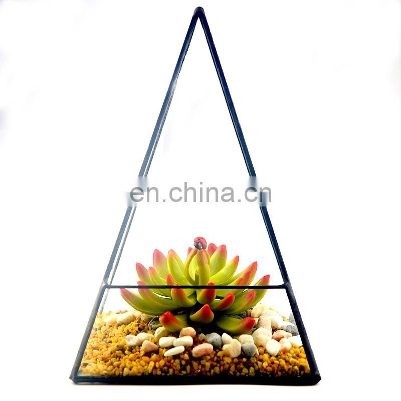 geometric terrarium geometric glass terrarium wholesale pyramid shape Lead-free