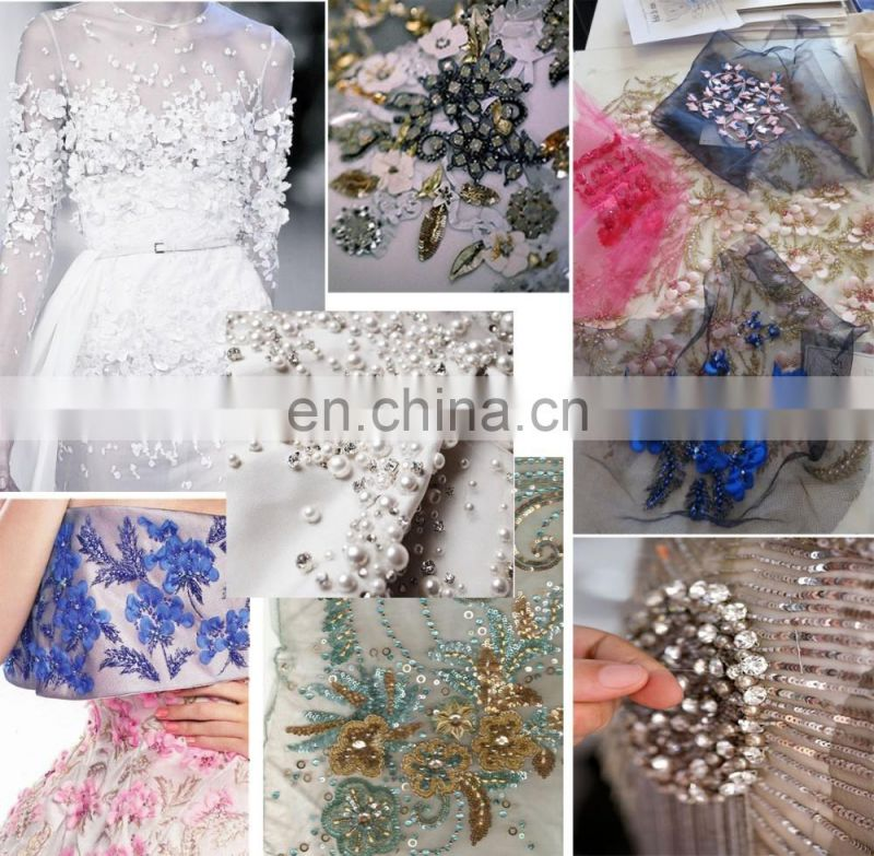 2016 high quality french tull lace french net lace beaded lace beading lace flower lace 3d lace aso-ebi wedding lace