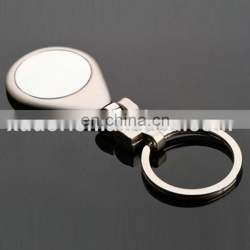 China Keychain manufacturer wholesale enamel round engrave pendant keyfinder/custom metal keyrings