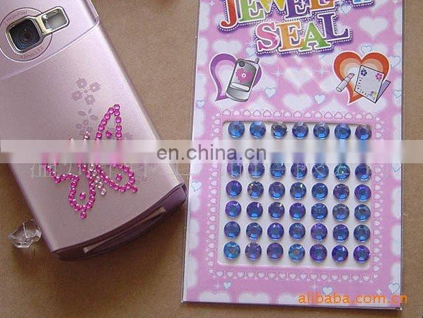 2013 flashing mobile phone sticker jewelry sticker(zy1-8175)