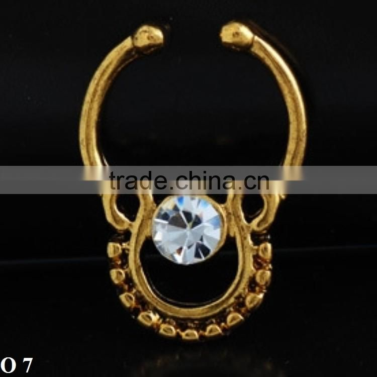 Fashion attractive design gold nose ring for women wholesale O 7