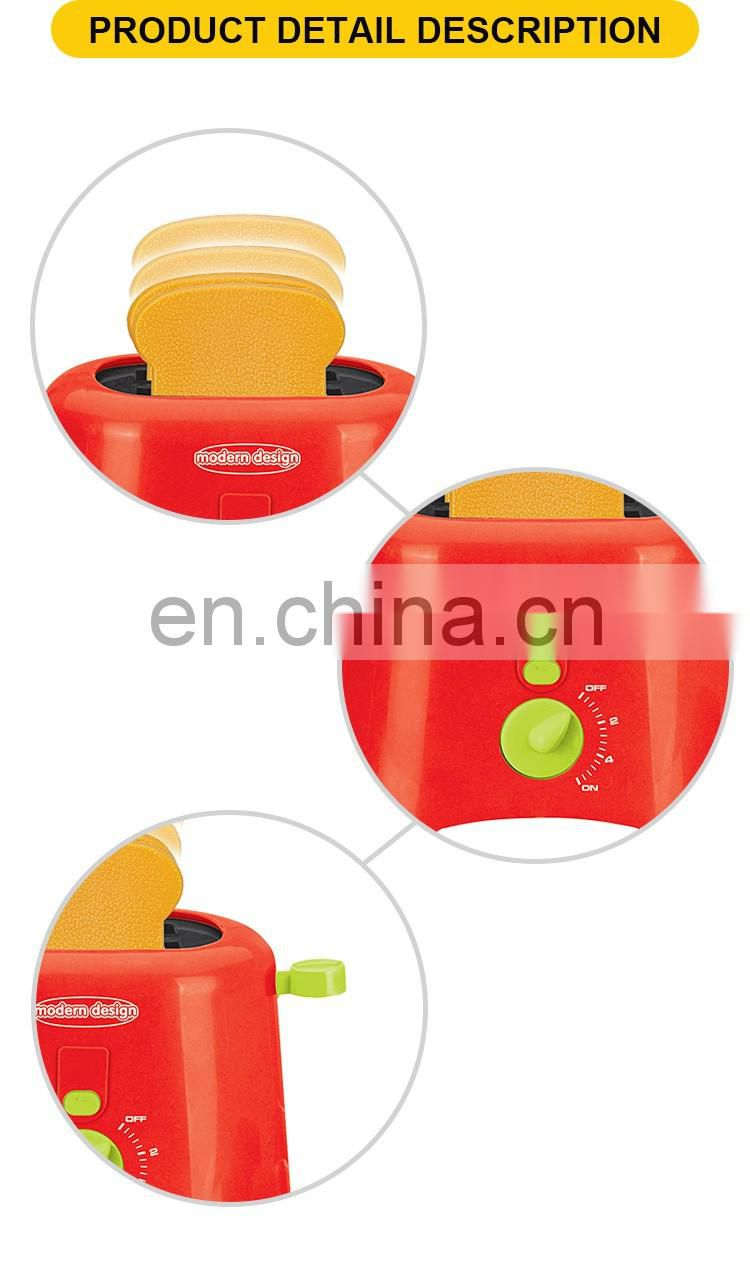 Hot selling kitchen toys the plastic mini toaster for children