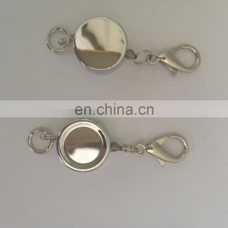 round shape small size retractable metal yoyo key chain