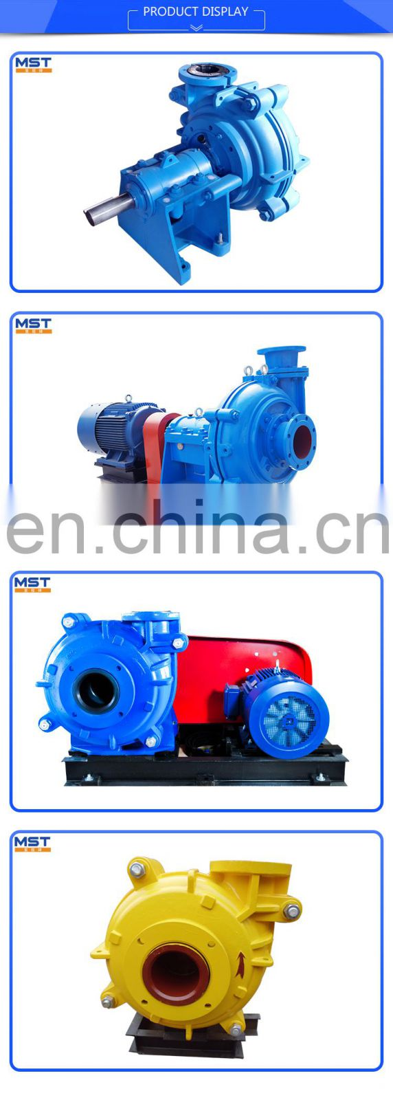 Coal mine trash pump with diesel engine