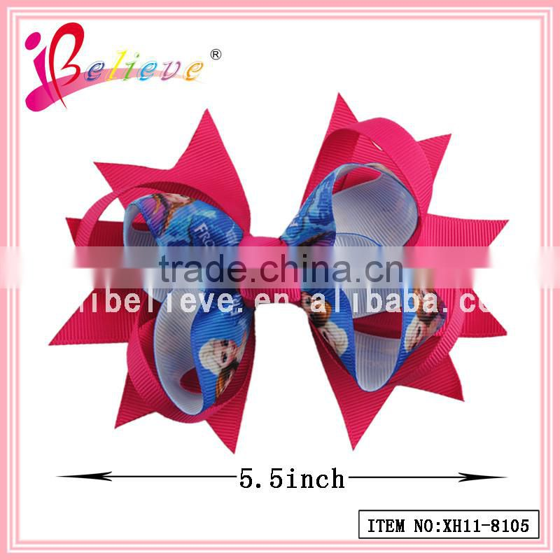 Chinese products manufacturer 3 inch fancy ribbon bow elastic pony hair accessories (XH11-7753)