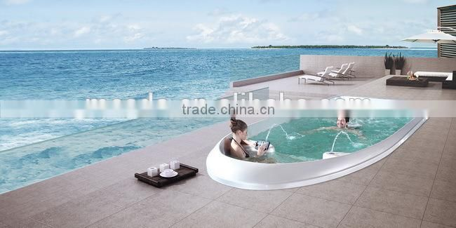 modern round outdoor spa WS-S07M with swim and massage