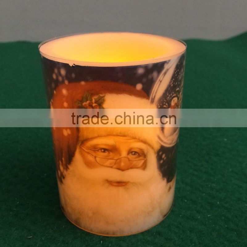 Christmas decor led flameless candles led wax candles for Christams yellow flicking flameless led candle battery operated candle