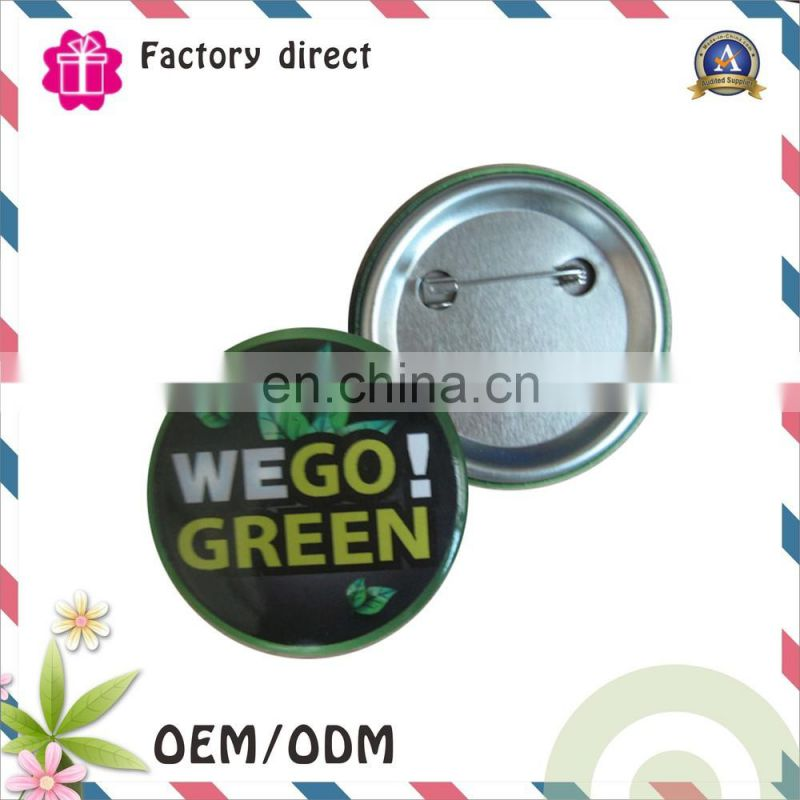Wholesale price promotion gift metal button badges custom metal pin badges