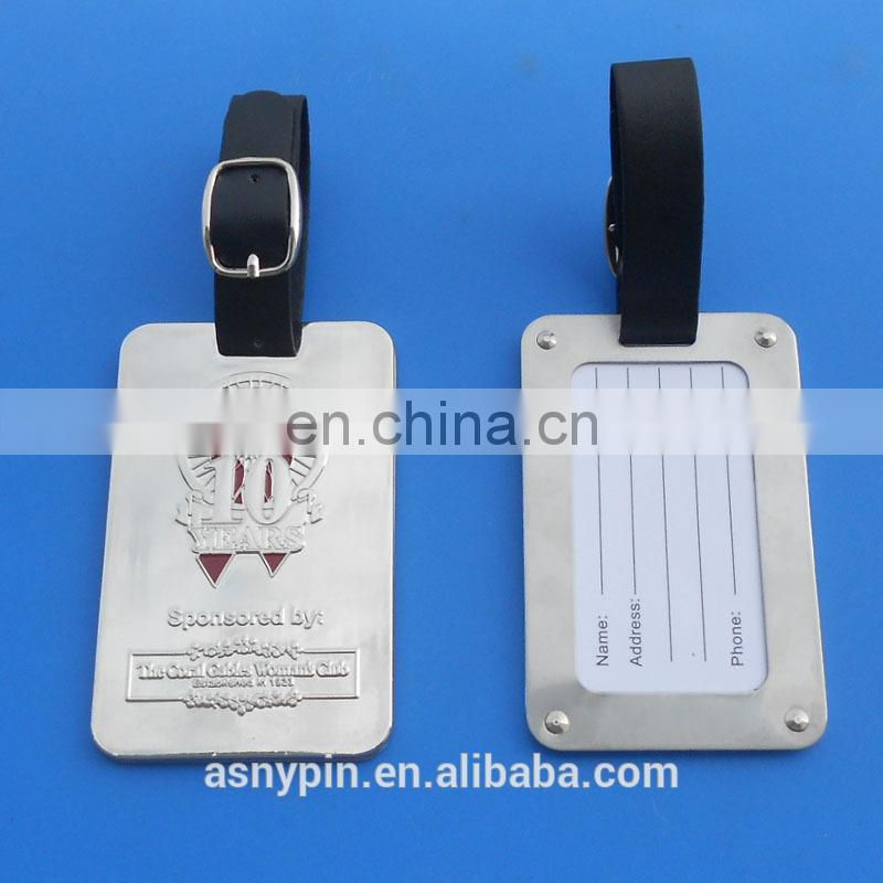 custom high end metal bag luggage tag for golf club member