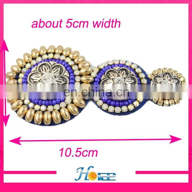 India design handmade beads shoe decoration ladies beads sandal accessories