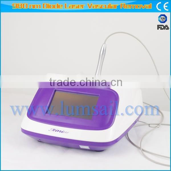 Medical CE approved 980nm diode laser for vascular / veins / spider veins removal blood vessels removal machine