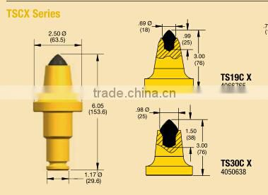 TS30C X Conical rig drill round shank surface mining tools tungsten carbide rotary mining pick