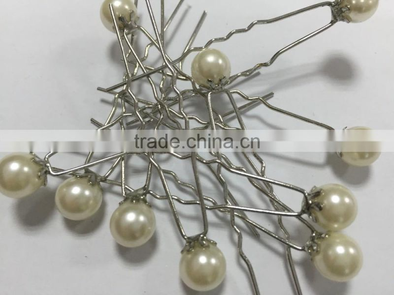 Ivory Color Pearl Hair Pins Hair Sticks Hair Clip Prom Party Wedding Bridal