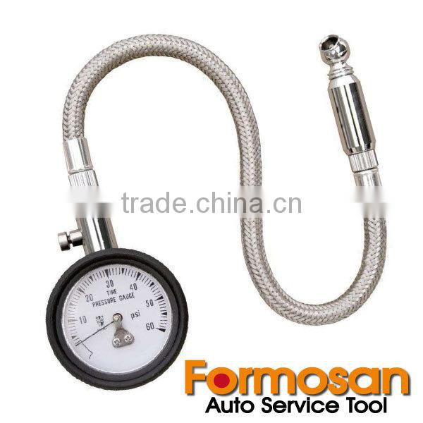 Deluxe Extension Hose Tire Pressure Gauge