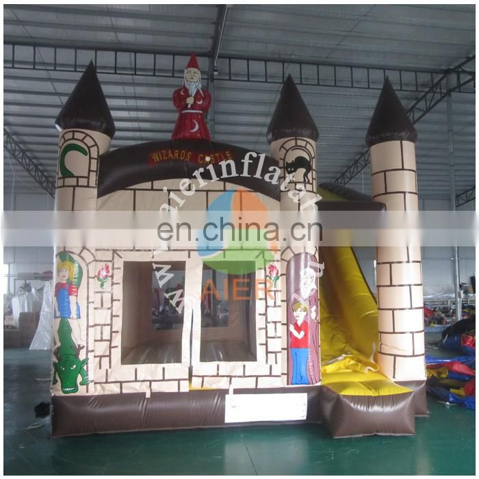 Wizards inflatable bounce house