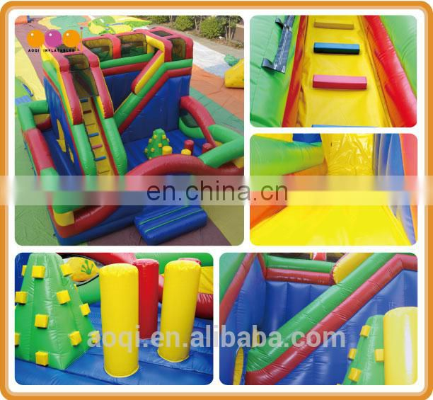 AOQI colorful inflatable fun city beautiful fun city for children
