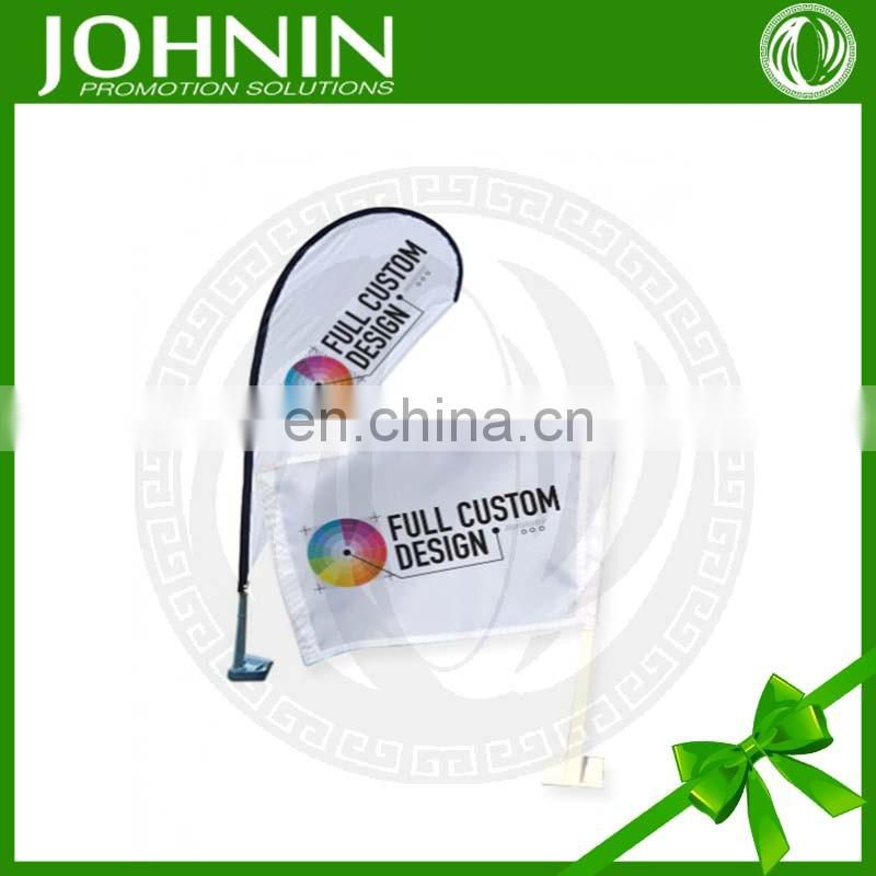 Free Sample Plastic Pole Custom New Design Low MOQ Car Flag