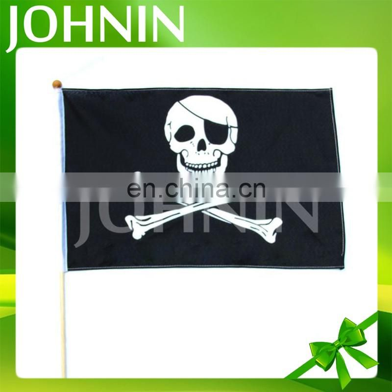 wholesale cheap fast shipping custom hand shaking waving flags with pole