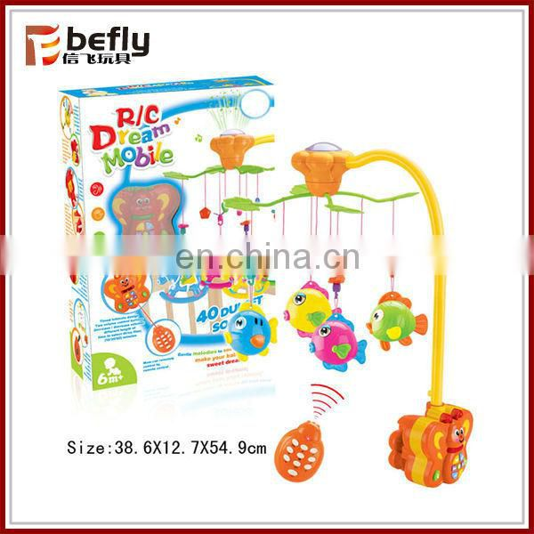 Multifunction soft baby mobile remote control