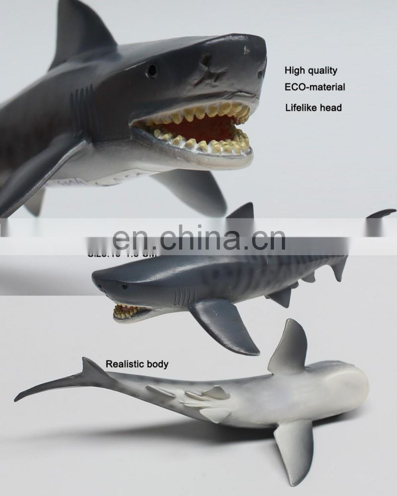 Lifelike ECO material sea animal plastic toy shark