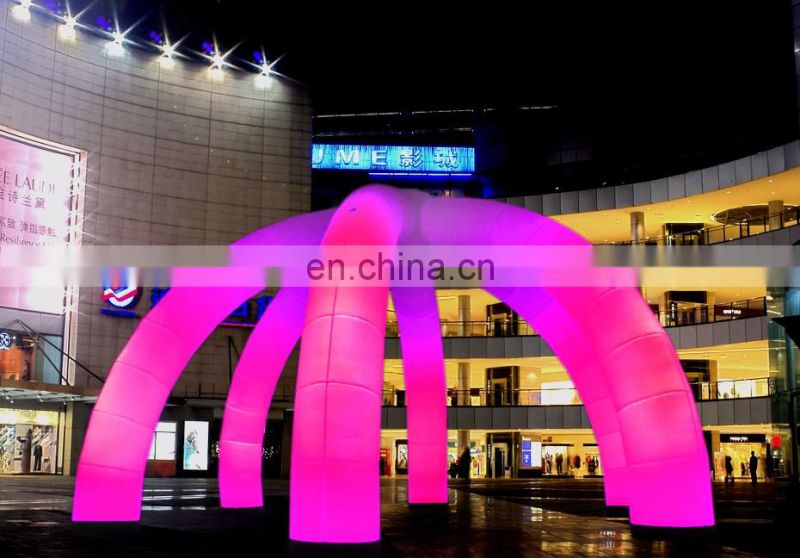 2015 hot colorful inflatable arch with led light and in/inflatable arch with LED light/party decoration inflatable lighting arch