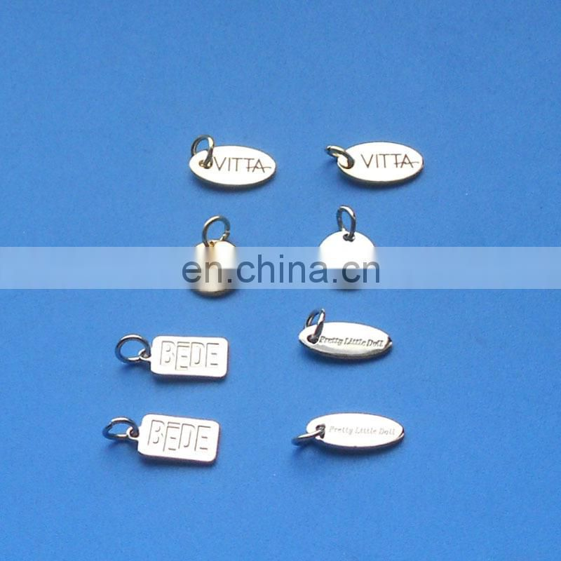 good high quality engraved letter pendant charm welcome
