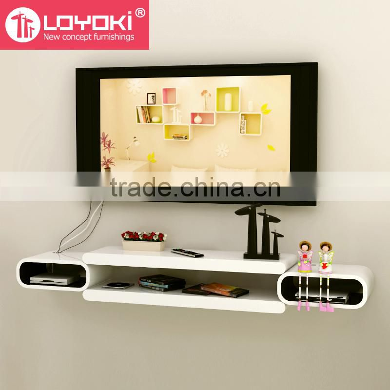 2016 New DIY assembly Wall Mount TV Console wall floating shelf for ...