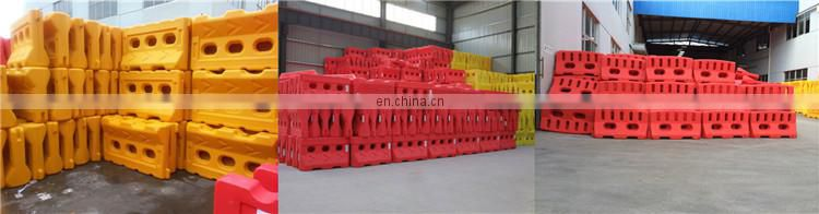 Customized Plastic Water Filled Traffic Water Horse Road Safety Barricade With Reflective Tape