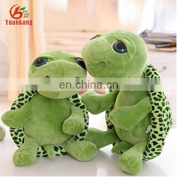 Super soft sea animal big eyed green turtle plush stuffed toys