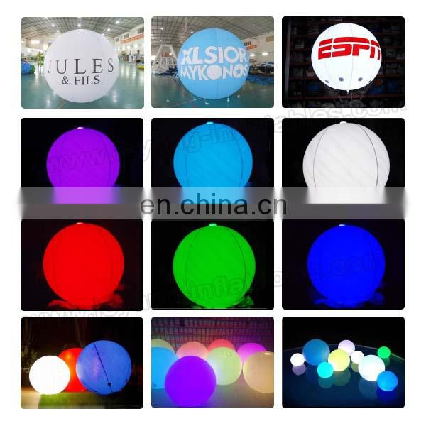 lighting inflatable helium balloon/ LED inflatable ball/ luminous inflatable advertisement
