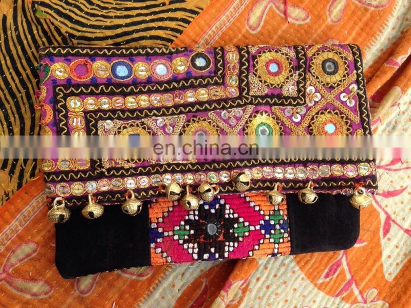 designer vintage mix high quality sequiens tribal banjara clutch bags , fashion clutches