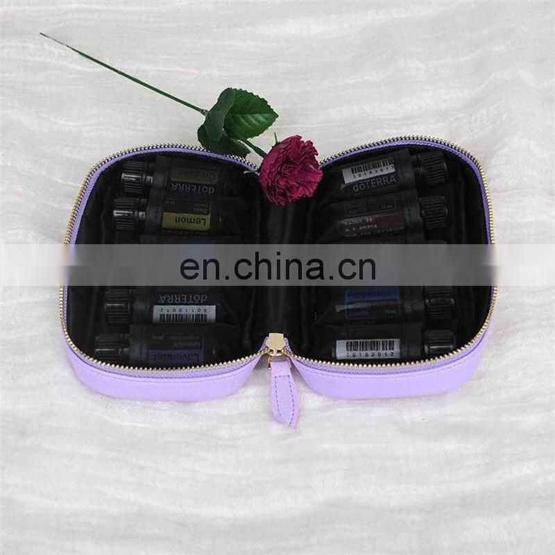 ODM Factory price wholesale good quality durable protective fashion essential oil bag with pu leather