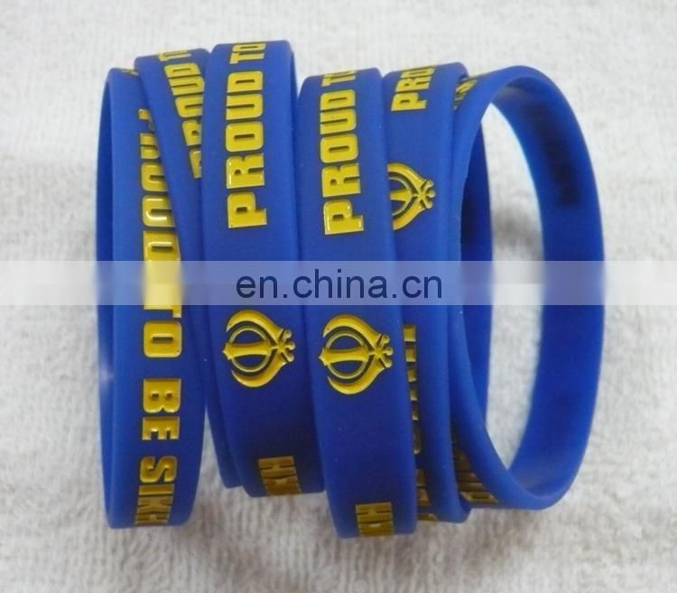 New product personalized rubber wrist bands made in China