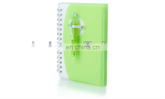 Professional PP Pocket Spiral Notebook with Pen