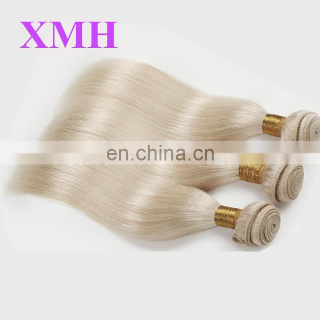Best selling Virgin Russian platinum blonde hair weave