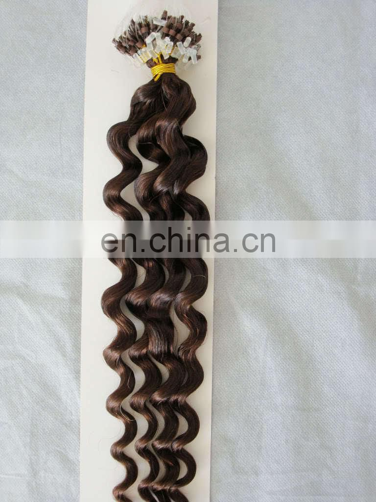 high quality virgin brazilian kinky curly micro loop hair extension