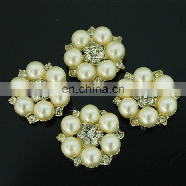Decorative acrylic rhinestone button for craft and wedding card