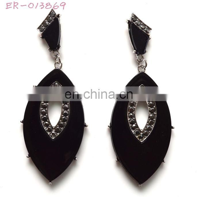 fashion 2014 lady rhinestone women earrings wholesale