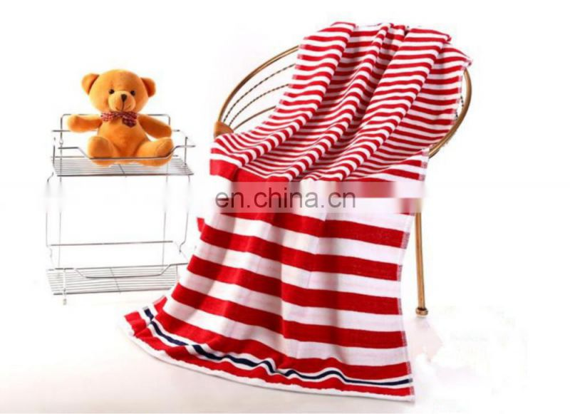 wholesale Twistless dark stripe navy wind cotton beach towel