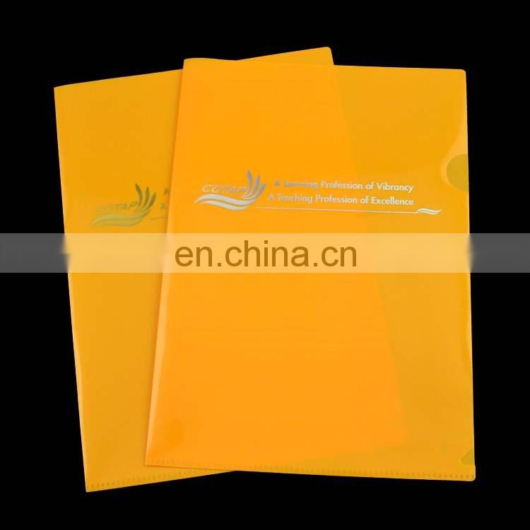 A4 size hot stamping custom logo plastic sheet clear folder