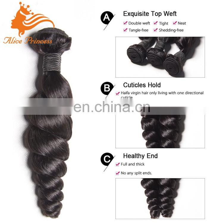 2016 qingdao fengye hair wholesale brazilian remy hair bundles extensions loose wave