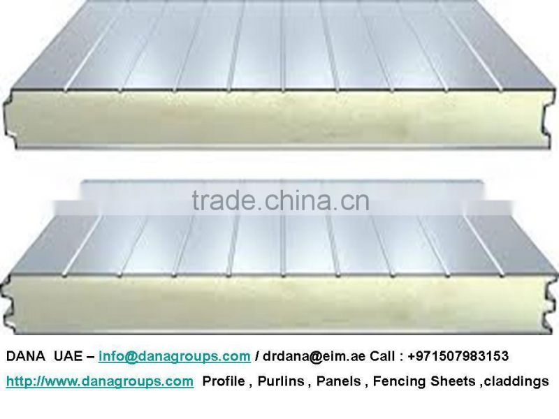 Insulated Sandwich PU Panels for Roof , wall , Ceiling