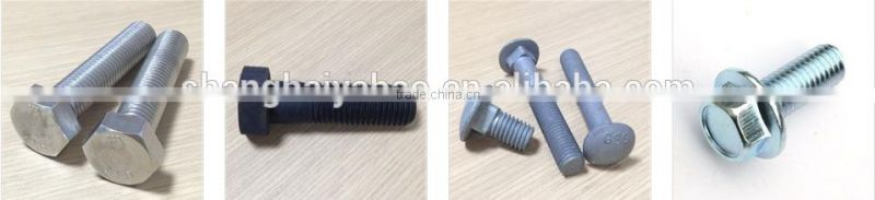SUS 316 Stainless steel hex bolt with hex nut and washer