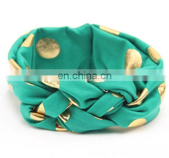 Gold Top Knot Baby Headband Sailors Knot Headwrap Twisted Headband For Baby Topknot
