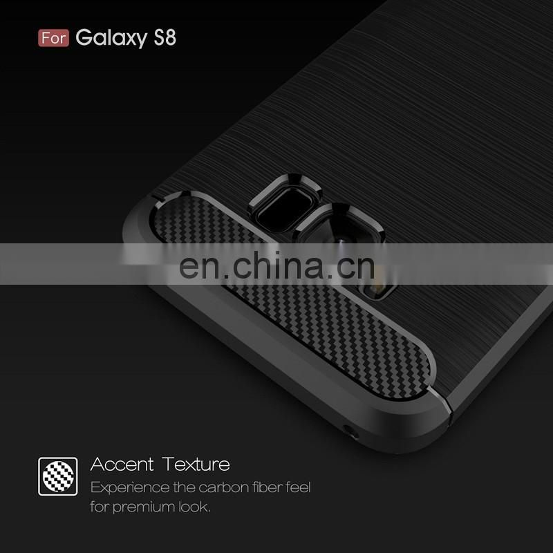 Carbon fiber pattern soft TPU back cover case for Samsung Galaxy S8