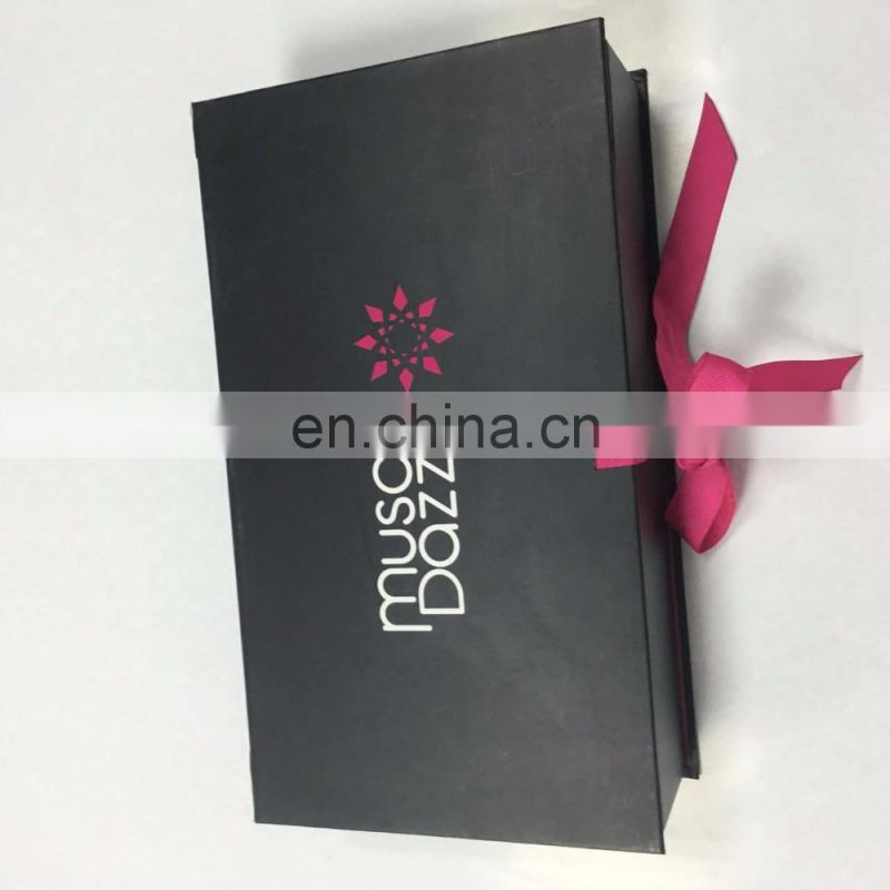 custom size Red floding box with red ribbon