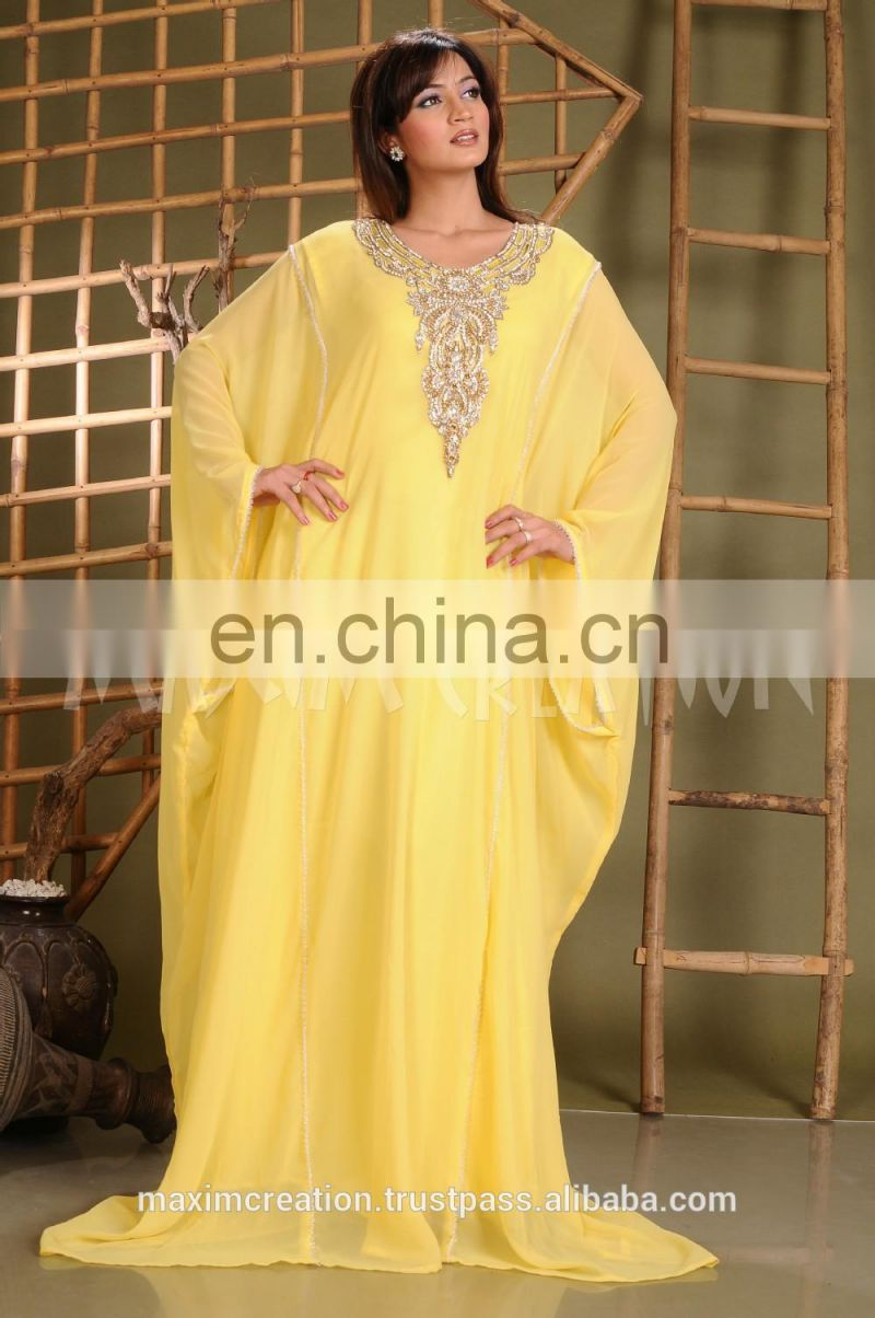 2017 New Style Elegant Muslim Dress Islamic Kaftan Dress