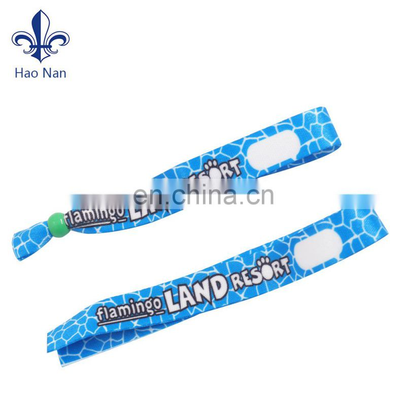 Cheap custom RFID fabric woven wristband for event activity