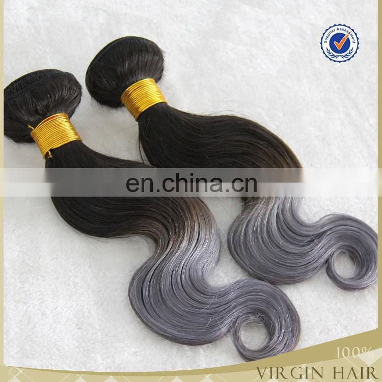 2016 super quality indian grey human hair weaving