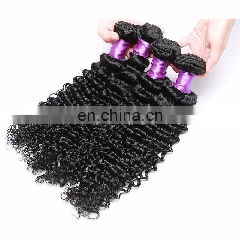aliexpress 7A 8A 9A 10A Cheap Wholesale indian Virgin remy Curl deep wave Hair 100% indian Curly human Hair extension